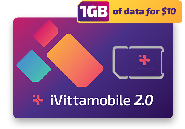 ivittamobile 2.0 sim card 1GB data for $10